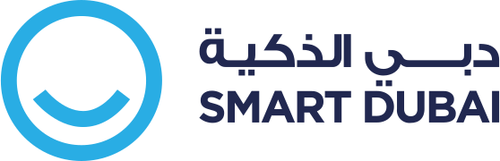 Logo of Smart Dubai, happy living